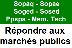 SOPAQ, SOPAE, SOSED, SOGED, PPSPS, mémoire technique
